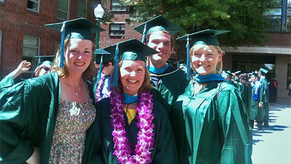2013 Graduates Bowcutt, Kaler, Knackstedt and Haley