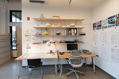 510 Oak shelving and desk
