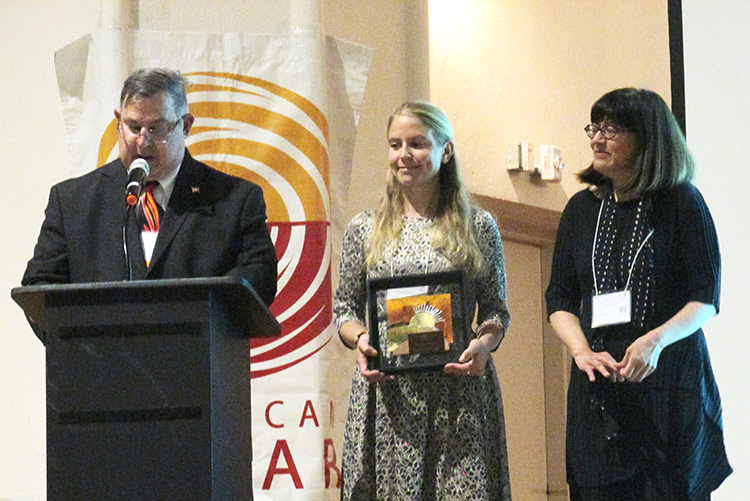 Alison Kwok is honored on October 10 in Denver, Colorado.