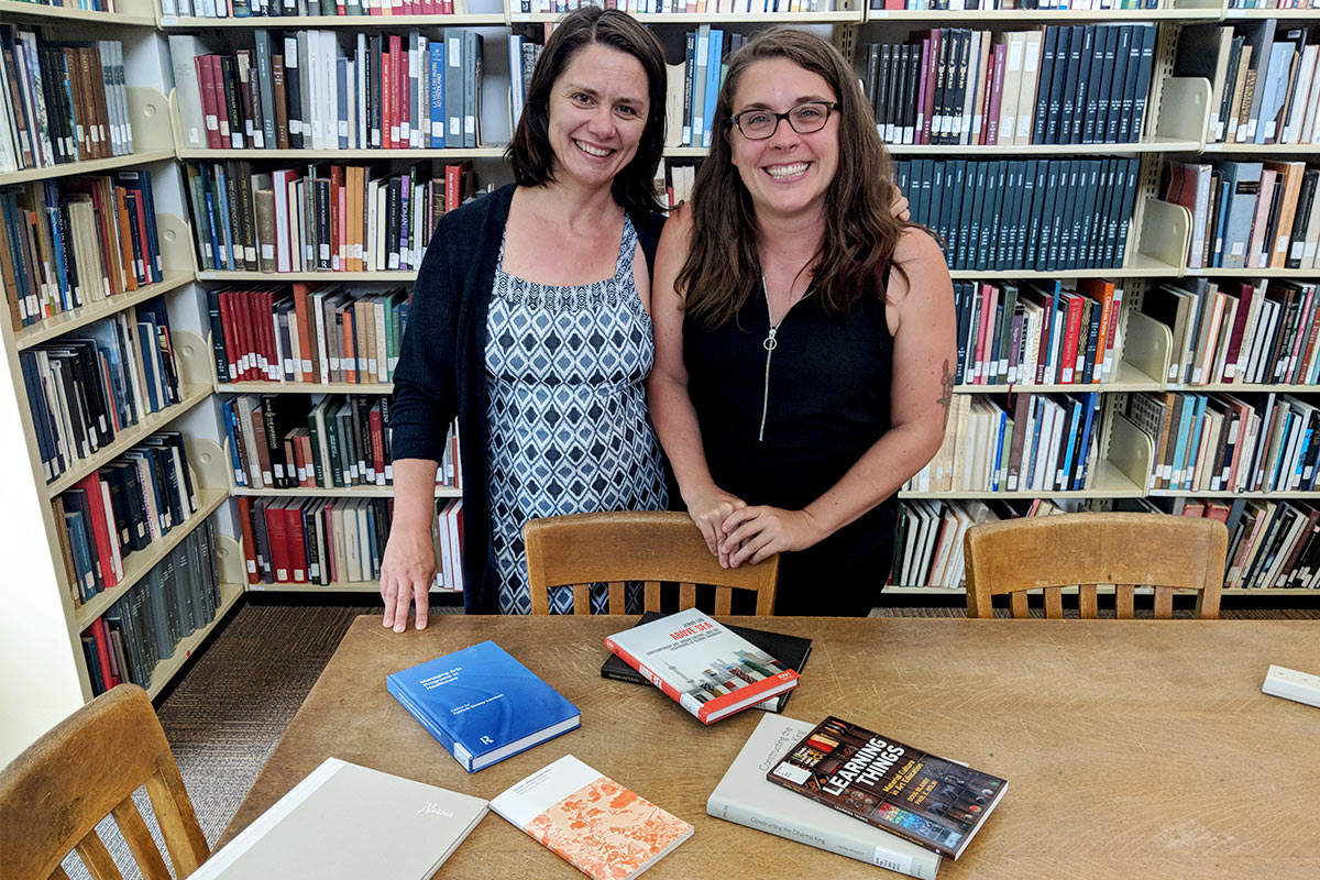 Eleonora Redaelli and Sara DeWaay at Design Library