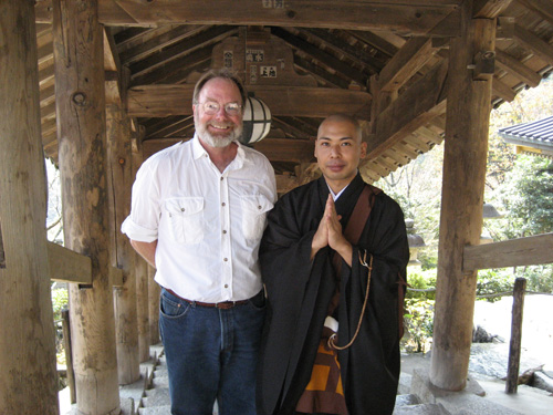 Brad Black at Hasadera Temple in Japan on a recent trip.