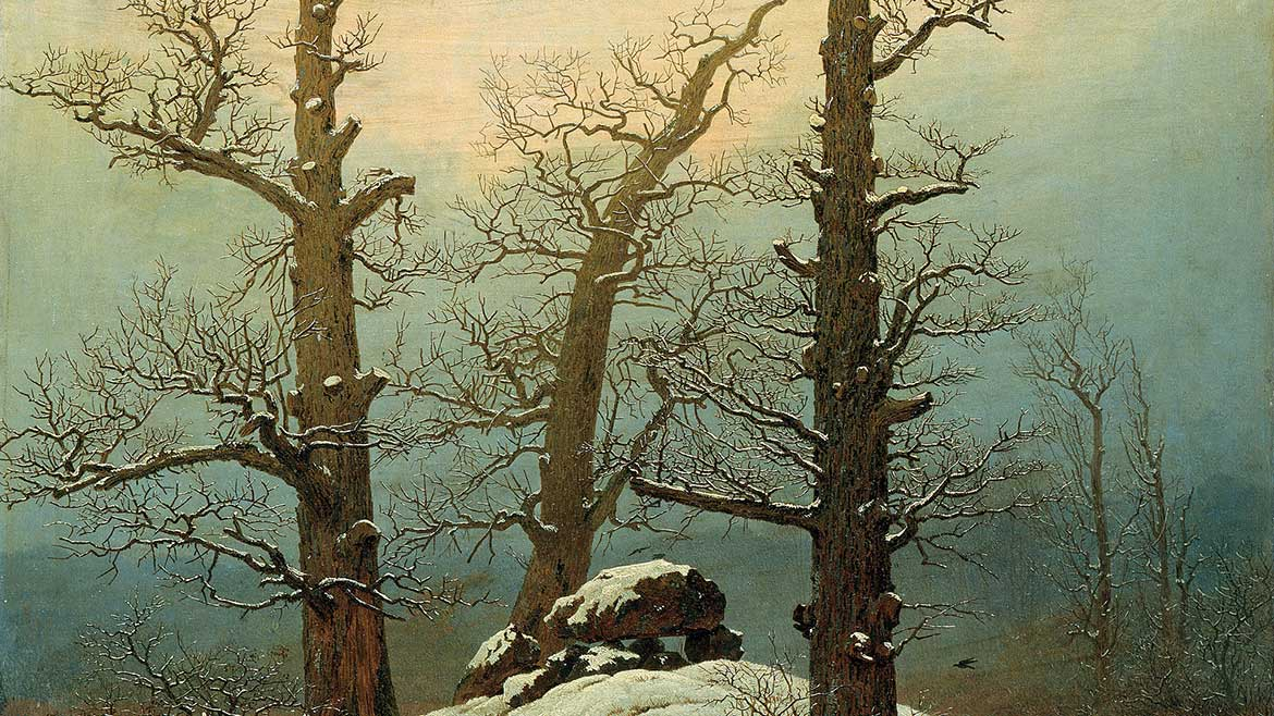 painting by Caspar David Friedrich, Carin in Snow
