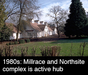 1980s: Millrace and Northsite complex is active hub