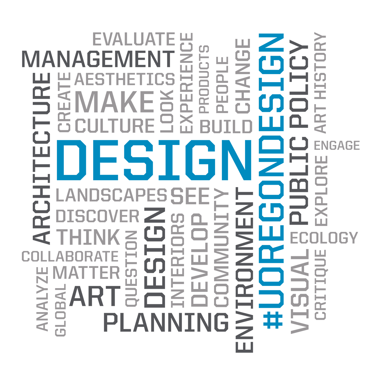 word cloud for College of Design