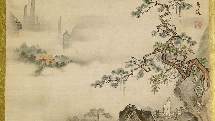 Landscape by Isen'in Hoin Eishin (1775–1828), in the style of Ma Yuan. Wikimedia Commons.