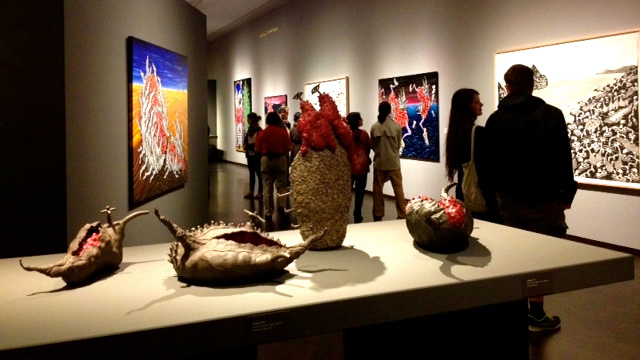 sculpture and paitings on display