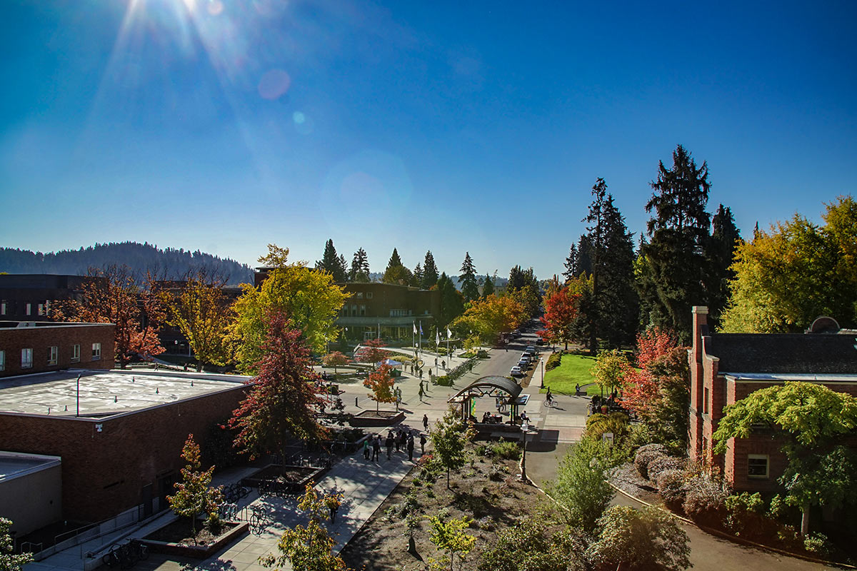 UO campus in fall