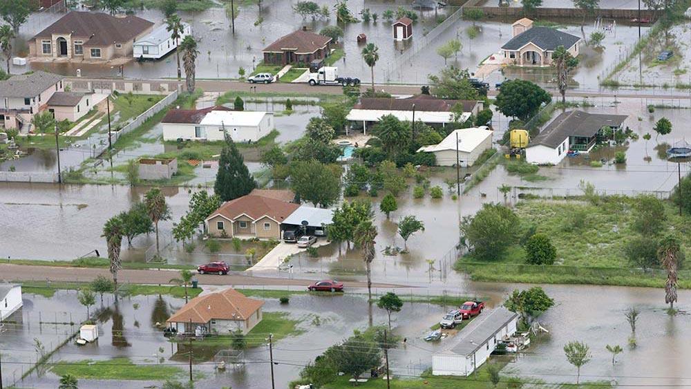 FEMA aerial image of flood, courtesy Wikimedia Commons