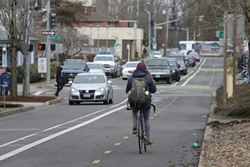 two-way bike path