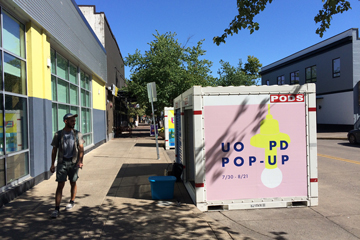 Pop-up shop on Olive Street in downtown Eugene