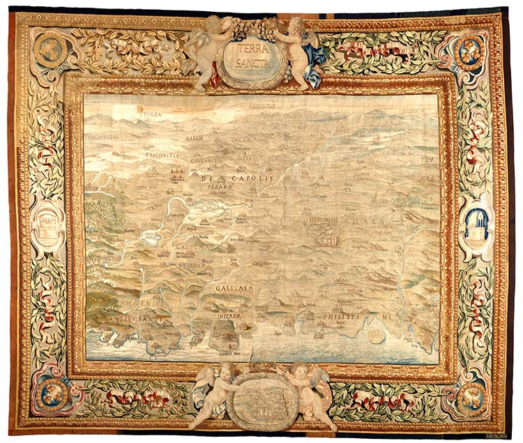 Holy Land Map tapestry