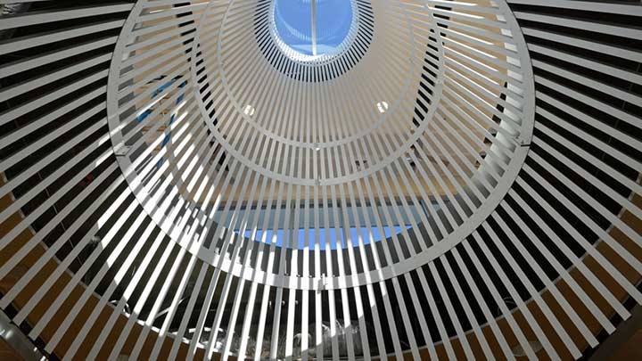 Light cones in the Learning Commons at Portland Community College Southeast
