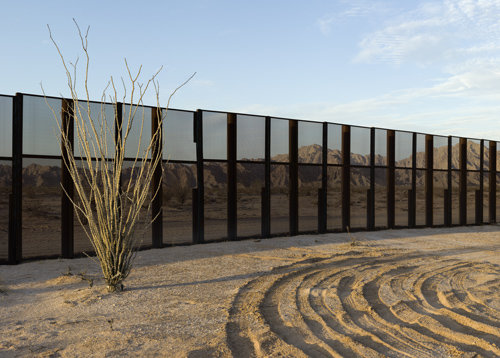 Drop-off Spot and Border Fence, Sonora.