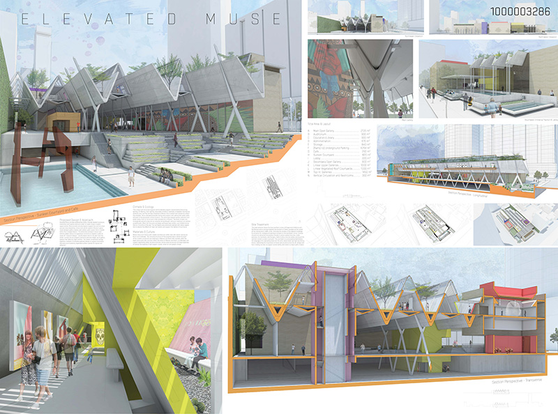 Architecture Design Competition Building Caf Sunken Courtyard