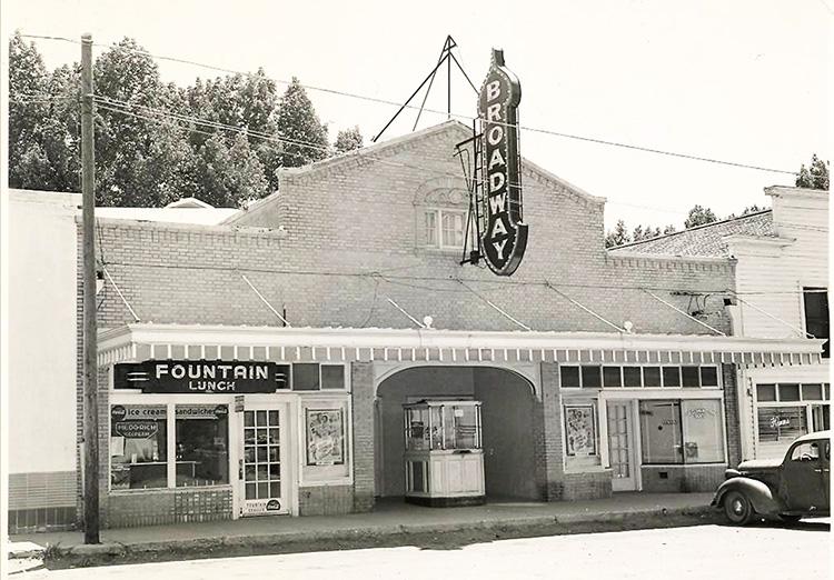 Broadway Theater in Malin, southeast of Klamath Falls