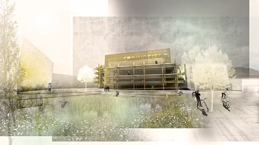 University of Oregon design for parking structure