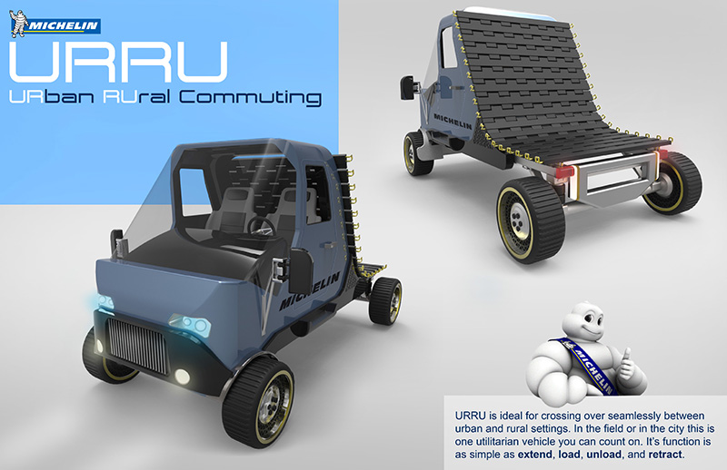 electric golf-cart sized vehicle called the URRU