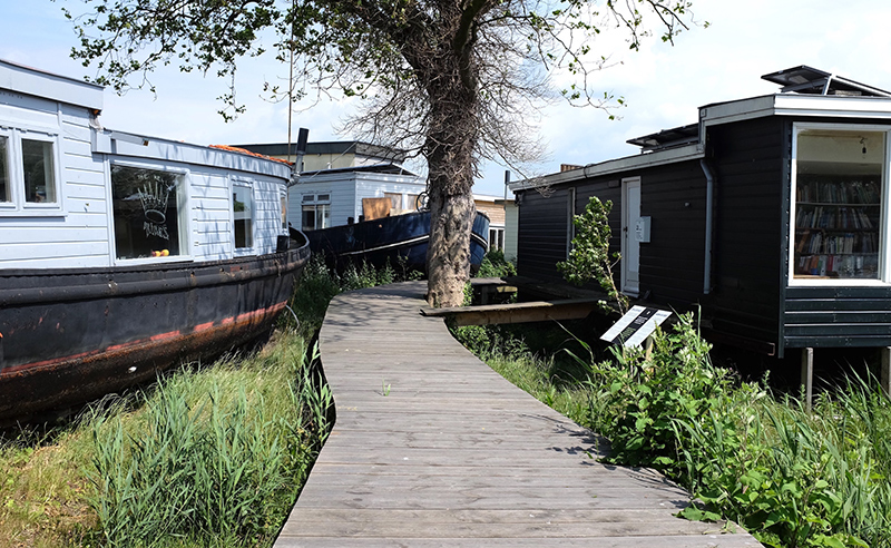 De Ceuvel, a temporary eco-community on a canal in Amsterdam