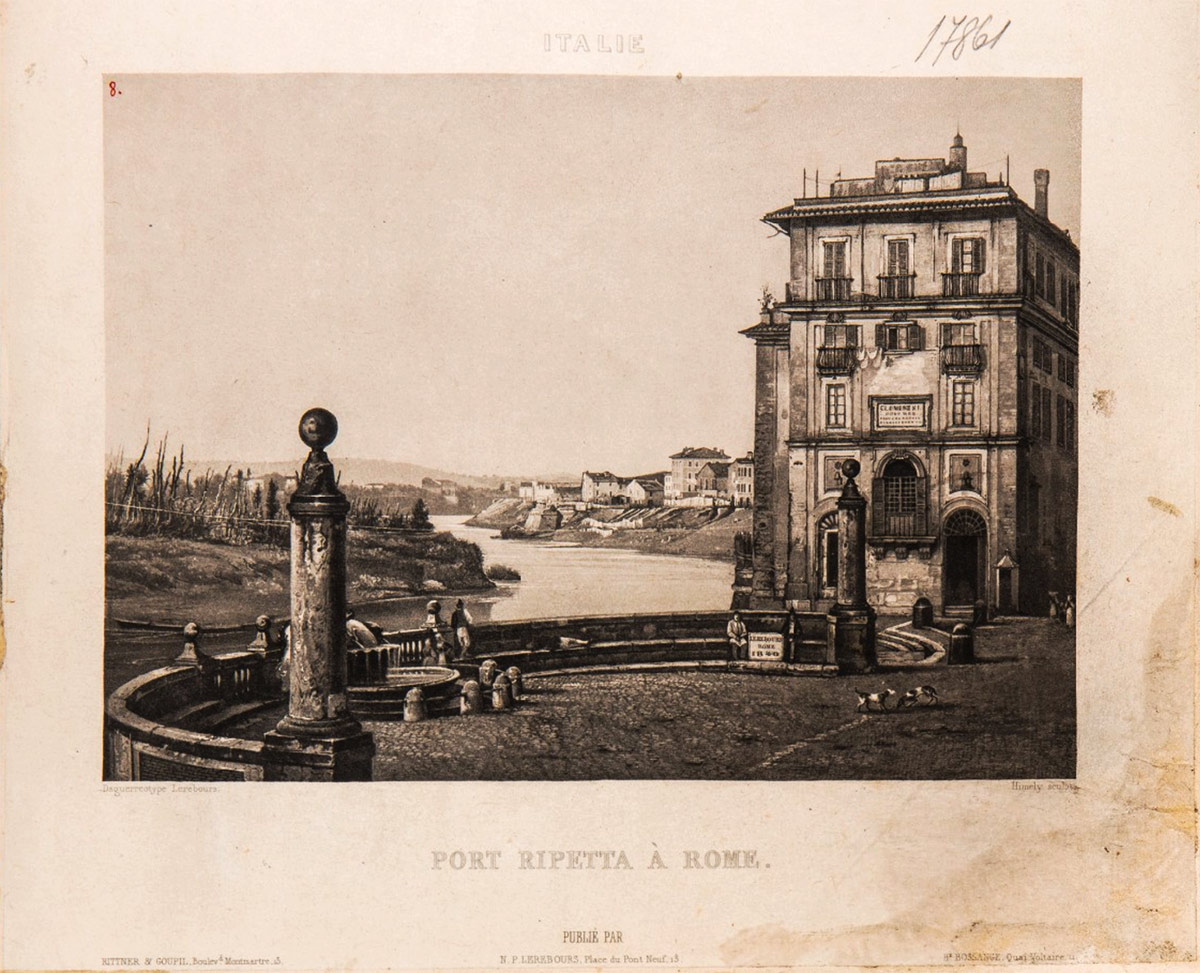 The Porto di Ripetta, Lithograph, 19th century.