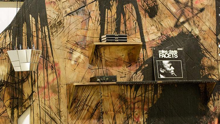 artwork with Miles Davis album