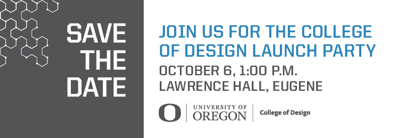 College of Design Launch Party banner