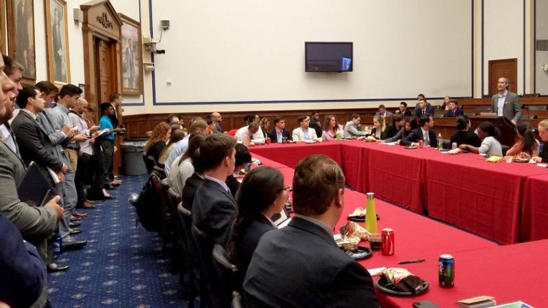 Nico Larco in Washington DC at Capitol Hill briefing
