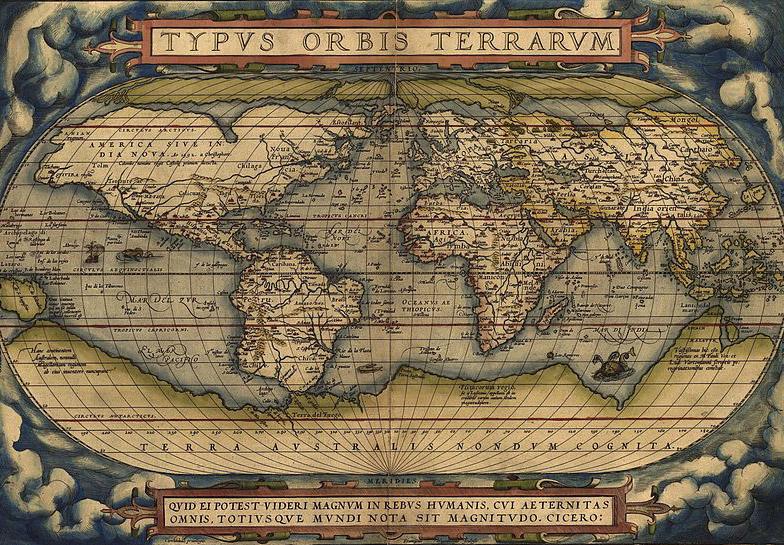 Ortelius World Map, courtesy Wikimedia Commons