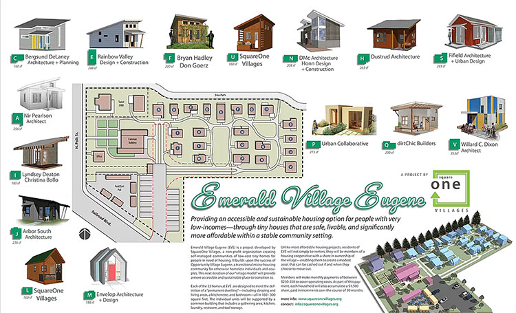 site plan for Emerald Village