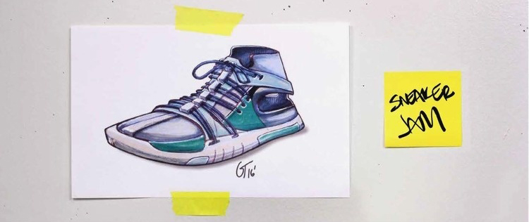 sneaker drawing