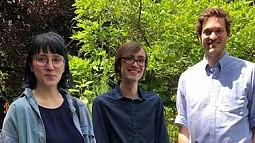 Allison Schukis (L), Benjamin Davis (C), and Rowan Tabor (R)