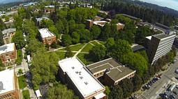 UO campus aerial view