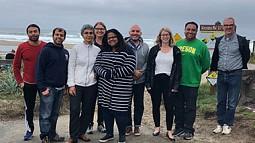 Photo of group on Oregon Coast