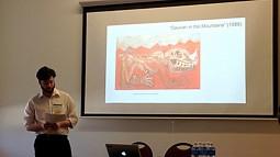 Jacob Armas presents at the Undergraduate Symposium in 2018