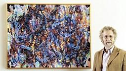 Joe Fischer with painting