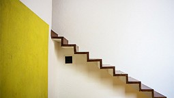 Photo of the staircase in Luis Barragan home