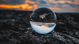 clear marble reflecting landscaper