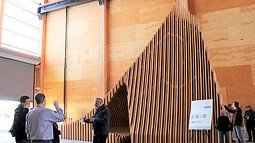 Image of a wooden structure at TallWood Design Institute