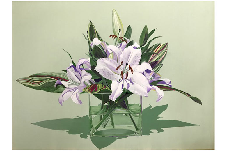 Phyllis Yes' Calm Lillies painting