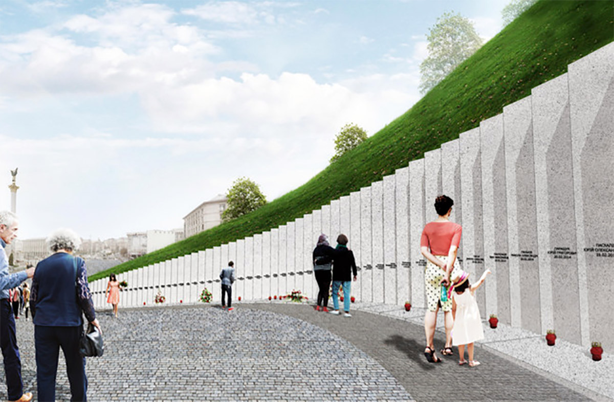 Rendering of Euromaidan memorial in Kiev