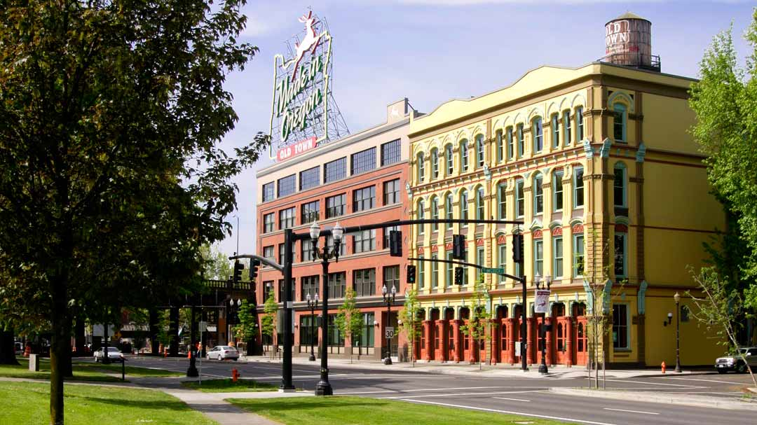 Street view of White Stag Block in Portland